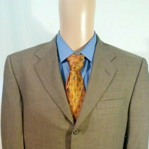 Hickey Freeman Men's 40R Gray Blazer